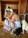 Katee Sackhoff - TwitPics Playing with the Puppies - Sep 19, 2012