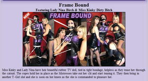 The English Mansion: Frame Bound/Featuring Lady Nina Birch & Miss Kinky Dirty Bitch (Complete Movie)